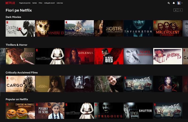 Filme și seriale horror pe Netflix
