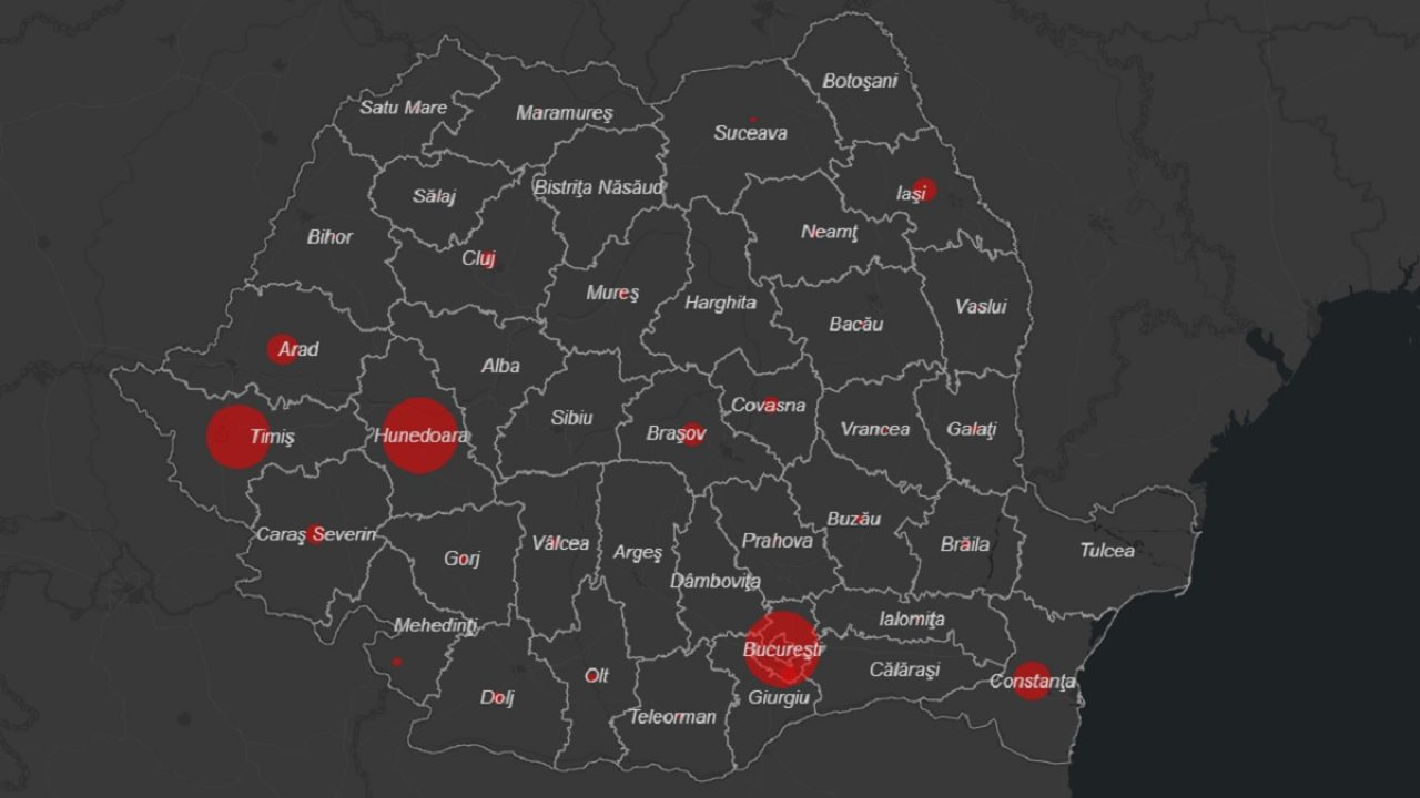 Coronavirus In Romania Hartă Live Unde Sunt Cazuri De Covid 19