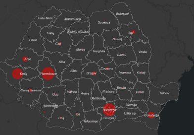 Coronavirus în România – hartă live: Unde sunt cazuri de COVID-19