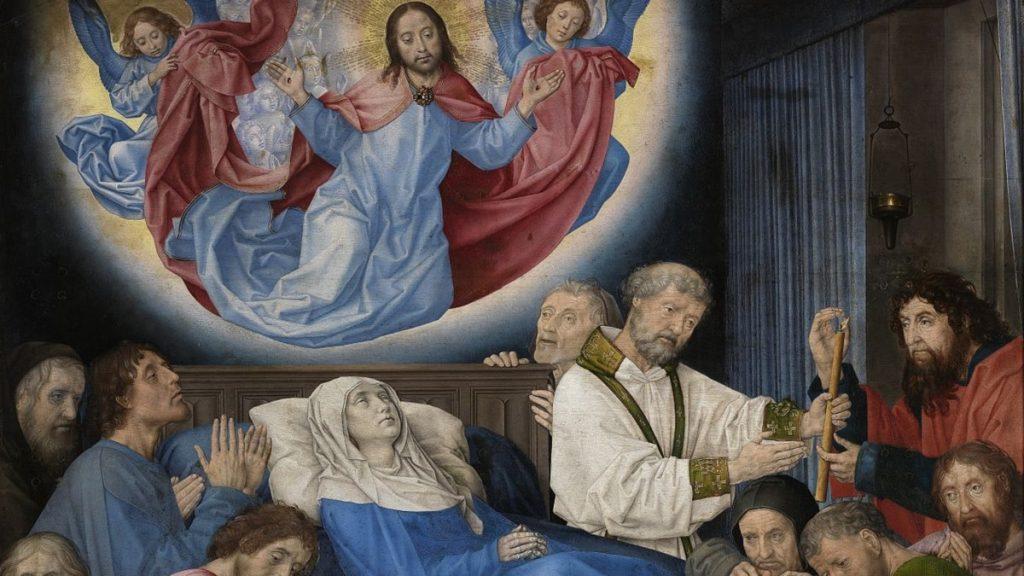 Moartea Fecioarei de Hugo van der Goes (detaliu)